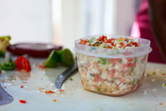 Bahamian conch salad Stock Photo