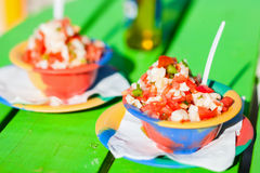 Bahamian conch salad Stock Photos