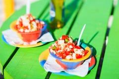 Bahamian conch salad Royalty Free Stock Photos