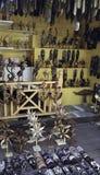 Bahamian Crafts. Bahamian craft shop for tourists Stock Photo
