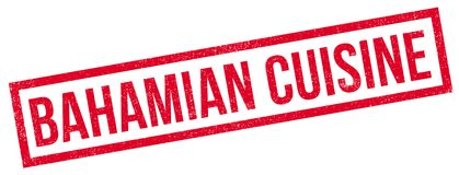 Bahamian Cuisine rubber stamp Royalty Free Stock Photo