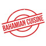 Bahamian Cuisine rubber stamp Royalty Free Stock Image