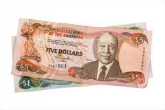 bahamian dolarów Obraz Royalty Free