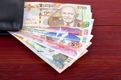 Bahamian dolary w czarnym portflu obrazy royalty free
