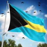bahamy flagę Fotografia Royalty Free