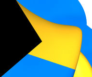 bahamy flagę Obraz Stock