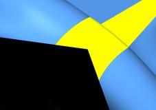 bahamy flagę Fotografia Stock