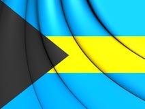 bahamy flagę Zdjęcia Stock