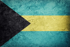 bahamy flagi crunch Bahamas flaga z grunge teksturą Zdjęcie Royalty Free