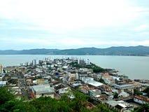 Bahia De Caraquez, Ecuador. View from the cross royalty free stock images