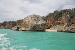Bahia De Las Aguilas zatoka Eagles Fotografia Royalty Free