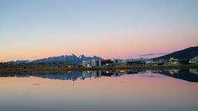 Bahia Encerrada, Ushuaia, Tierra del Fuego, Argentinië stock fotografie
