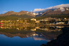Bahia Encerrada, Ushuaia, Tierra del Fuego, Argentinien Lizenzfreie Stockfotografie