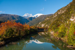 Bahia Exploradores, Carretera Austral, Highway 7, Chile Stock Images