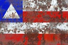 Bahia grunge flag, state of Brazil. Old flag stock image