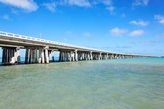Bahia Honda överbryggar, Florida stämm Arkivbild
