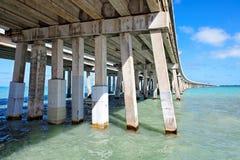 Bahia Honda överbryggar, Florida stämm Royaltyfri Fotografi