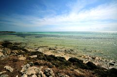Bahia Honda. National Park, Florida Keys, Florida, USA. Rocky Beach and Crystal Clear Atlantic Ocean Stock Photos