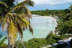Bahia Honda Bay Beach em Florida fotos de stock royalty free