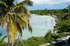 Bahia Honda Bay Beach in Florida royalty free stock photos