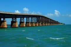 Bahia Honda Bridge closeup. Bahia Honda bridge leading the way to the island through the Atlantic ocean royalty free stock photography