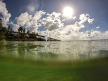 Bahia Honda, chave de FL Foto de Stock