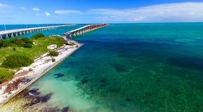 Bahia Honda-het park luchtmening van de staat, Florida royalty-vrije stock foto