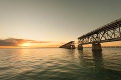 Bahia Honda linii kolejowej most fotografia stock