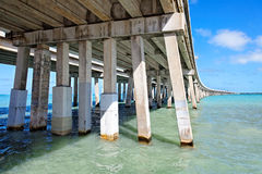 Bahia Honda most, Floryda klucze Fotografia Royalty Free