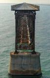 Bahia Honda Rail Bridge anziana Fotografie Stock