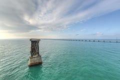 Bahia Honda Rail Bridge anziana Fotografia Stock Libera da Diritti
