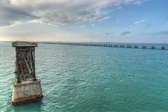 Bahia Honda Rail Bridge idosa Imagens de Stock Royalty Free
