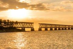 Bahia Honda railroad bridge stock image