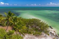 Bahia Honda stanu plaży panorama zdjęcie royalty free