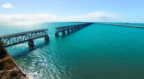 Bahia Honda State Park, aerial panoramic view - Florida - USA Royalty Free Stock Photography
