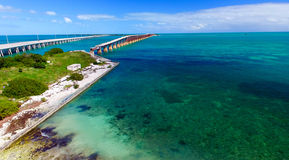 Bahia Honda state park aerial view, Florida.  royalty free stock photo