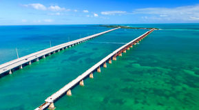 Bahia Honda state park aerial view, Florida Royalty Free Stock Photos