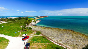 Bahia Honda state park aerial view, Florida Stock Photo