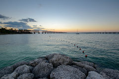 Bahia Honda State park in the evening Stock Images
