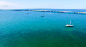 Bahia Honda State Park, visión panorámica aérea - la Florida - los E.E.U.U. fotografía de archivo