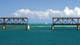 Bahia Honda Train Bridge. Florida Keys royalty free stock photo