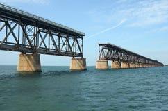 Bahia Honda Train Bridge 2 royalty free stock image