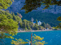 Bahia Lopez. (Lopez Bay) in San Carlos de Bariloche - Patagonia - Argentina royalty free stock photo