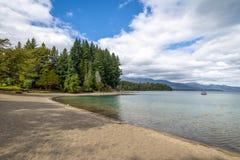 Bahia Mansa Bay chez Nahuel Huapi Lake - angustura de La de villa, Patagonia, Argentine images stock