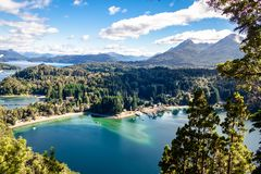 Bahia Mansa Viewpoint at Arrayanes National Park - Villa La Angostura, Patagonia, Argentina. Bahia Mansa Viewpoint at Arrayanes National Park in Villa La royalty free stock image