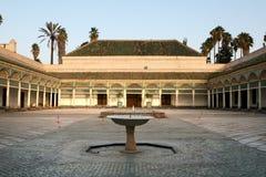 bahia marrakech slott Arkivfoto