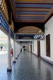 Bahia pałac - jeden korytarze z ornamentacyjnymi podłogami i sufitami zdjęcie royalty free