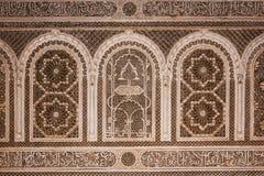 Bahia pałac szczegół marrakesh Maroko zdjęcie royalty free