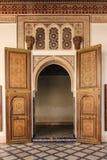 Bahia pałac wnętrze marrakesh Maroko zdjęcie stock
