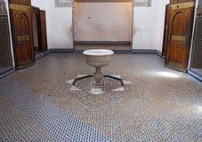 Bahia Palace à Marrakech, Maroc Image libre de droits